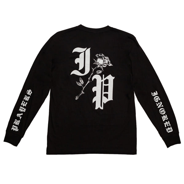 ROSE LONG SLEEVE T-SHIRT - BLACK