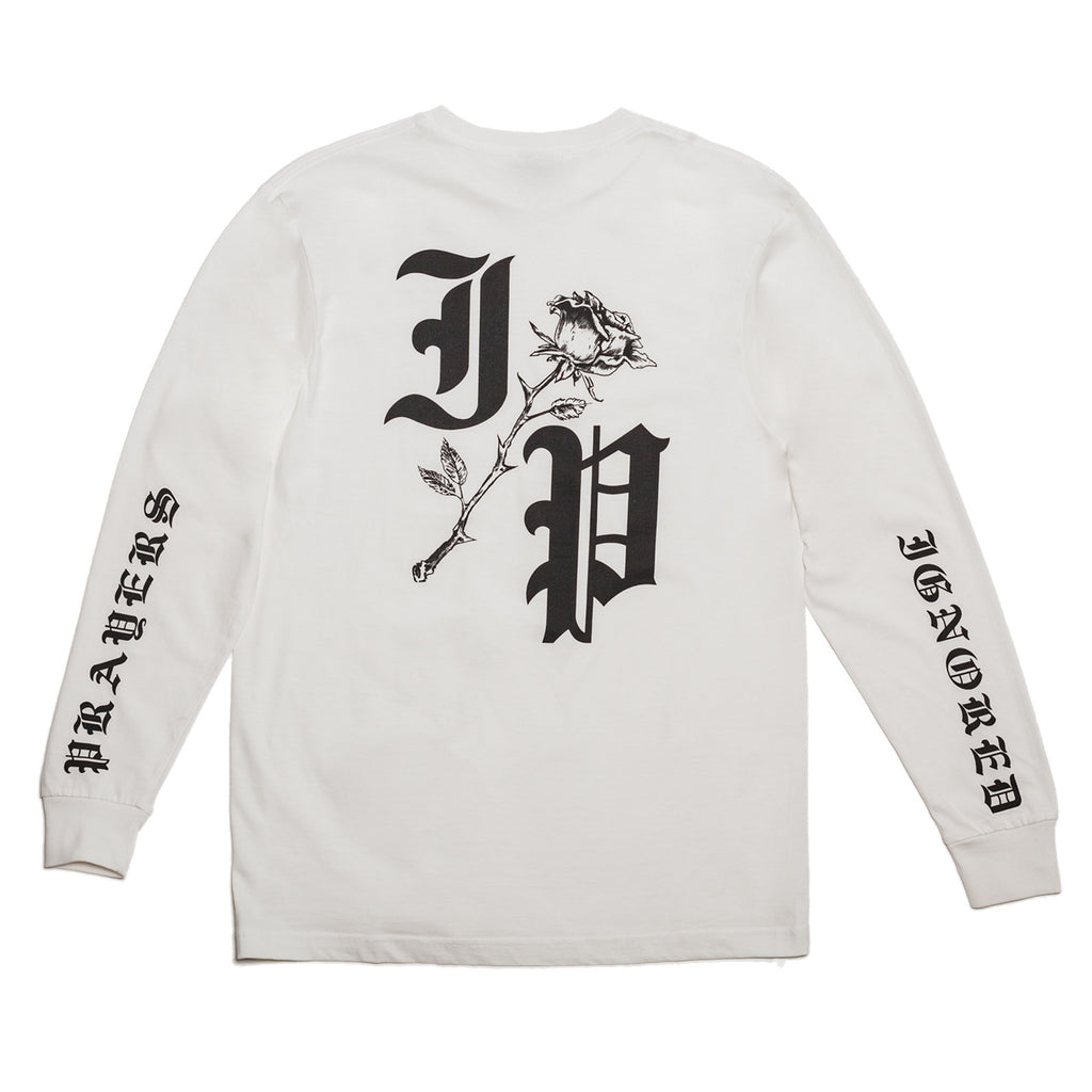 ROSE LONG SLEEVE T-SHIRT - WHITE