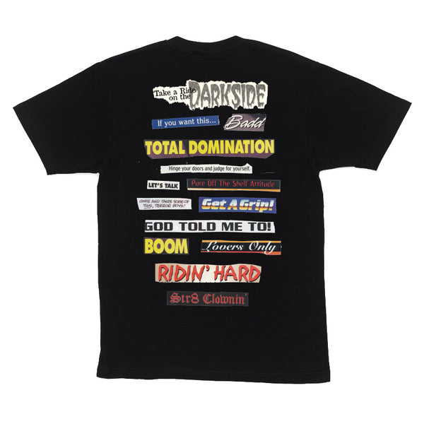 TOTAL DOMINATION T-SHIRT - BLACK