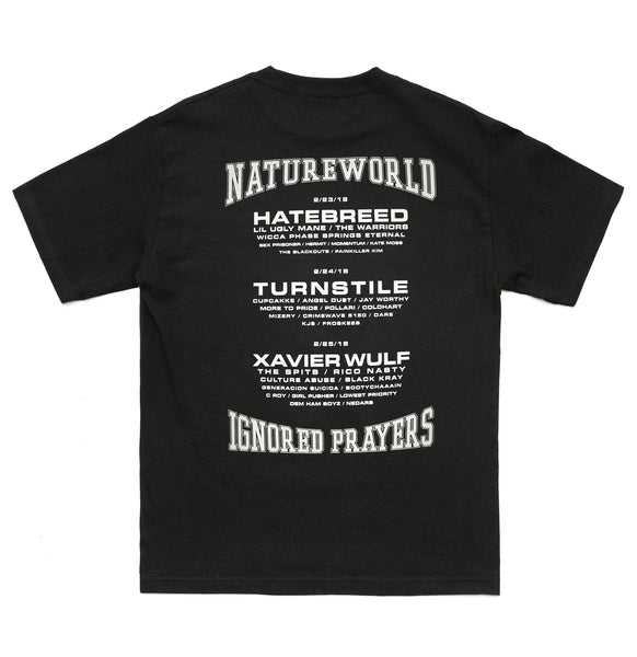 IGNORED PRAYERS x NATURE WORLD OFFICIAL NWNO '18 T-SHIRT