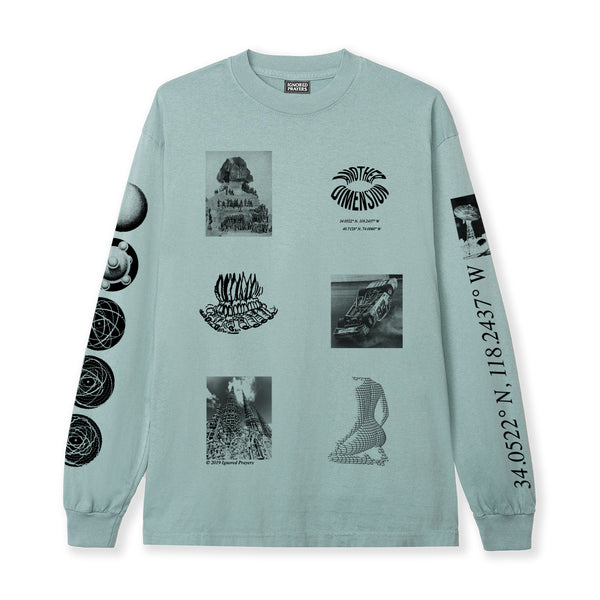 LEVEL UP L/S  TEE - ATLANTIC GREEN