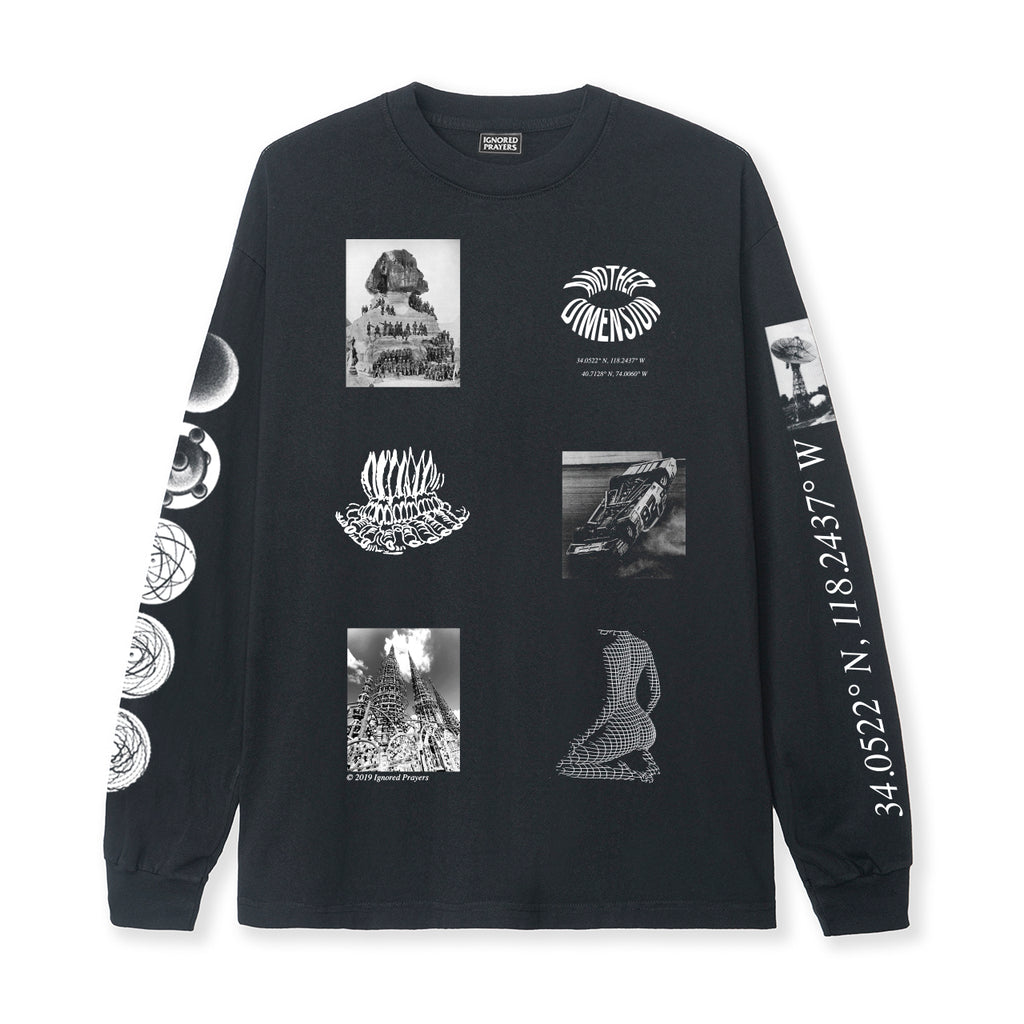 LEVEL UP L/S  TEE - BLACK