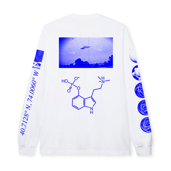 LEVEL UP L/S  TEE - WHITE