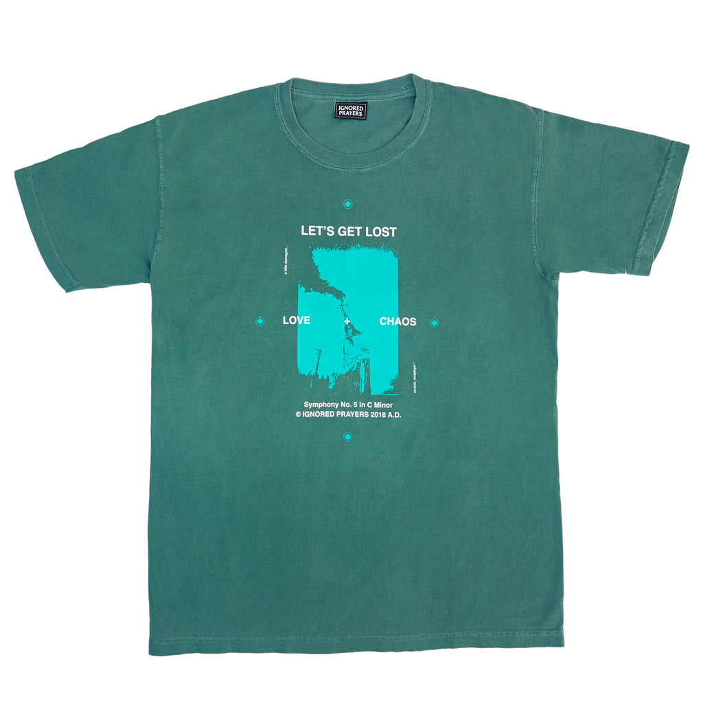 LOVE & CHAOS T-SHIRT - EMERALD