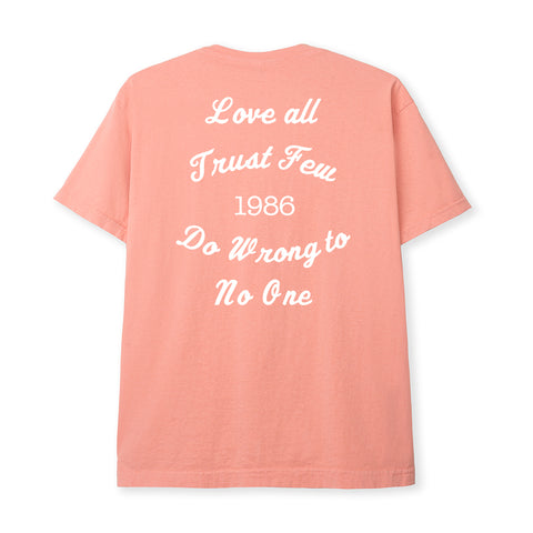 LOVE ALL TEE - CORAL