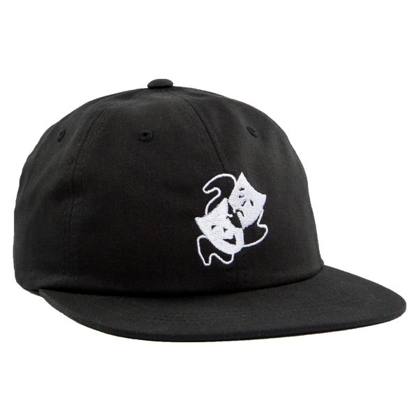 MASKS FLAT BRIM 6 PANEL - BLACK