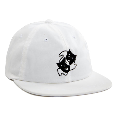 MASKS FLAT BRIM 6 PANEL - WHITE