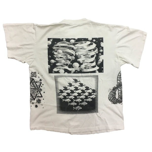 VINTAGE M.C. ESCHER ALL OVER PRINT T-SHIRT