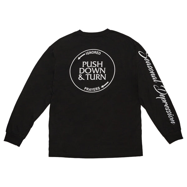SEASONAL DEPRESSION L/S TEE  - BLACK