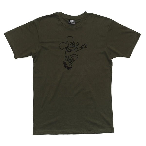 IP X HSU - RAD RAT T-SHIRT - MILITARY GREEN