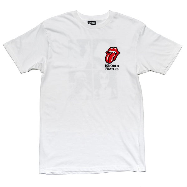 WITH TONGUE T-SHIRT - WHITE