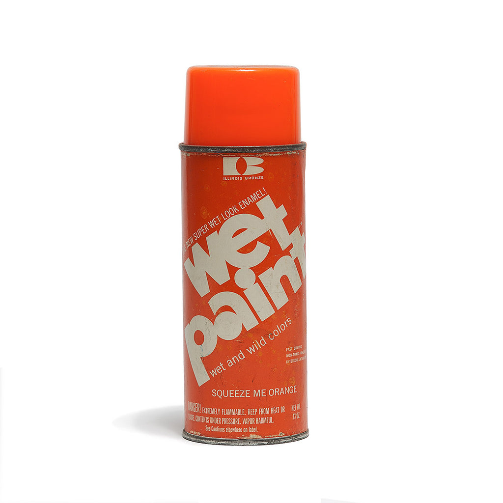 "VINTAGE WET PAINT ""SQUEEZE ME ORANGE"" SPRAY PAINT"