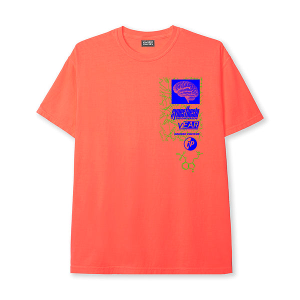SYNESTHESIA TEE - NEON RED-ORANGE