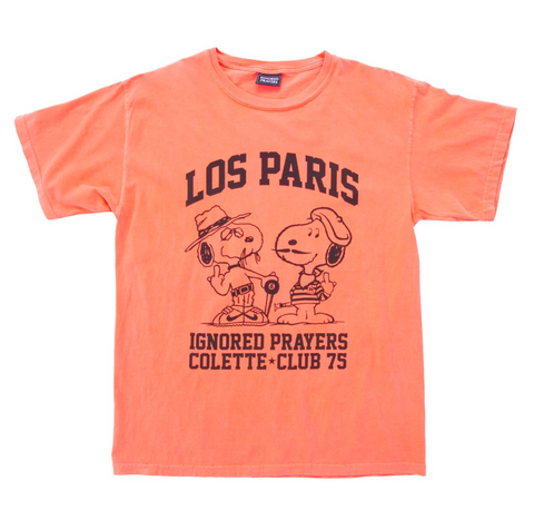 LOS PARIS TEE - NEON RED-ORANGE