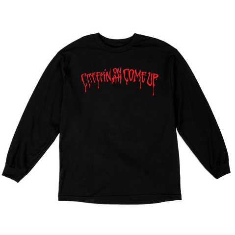 CREEPIN' L/S T-SHIRT - BLACK