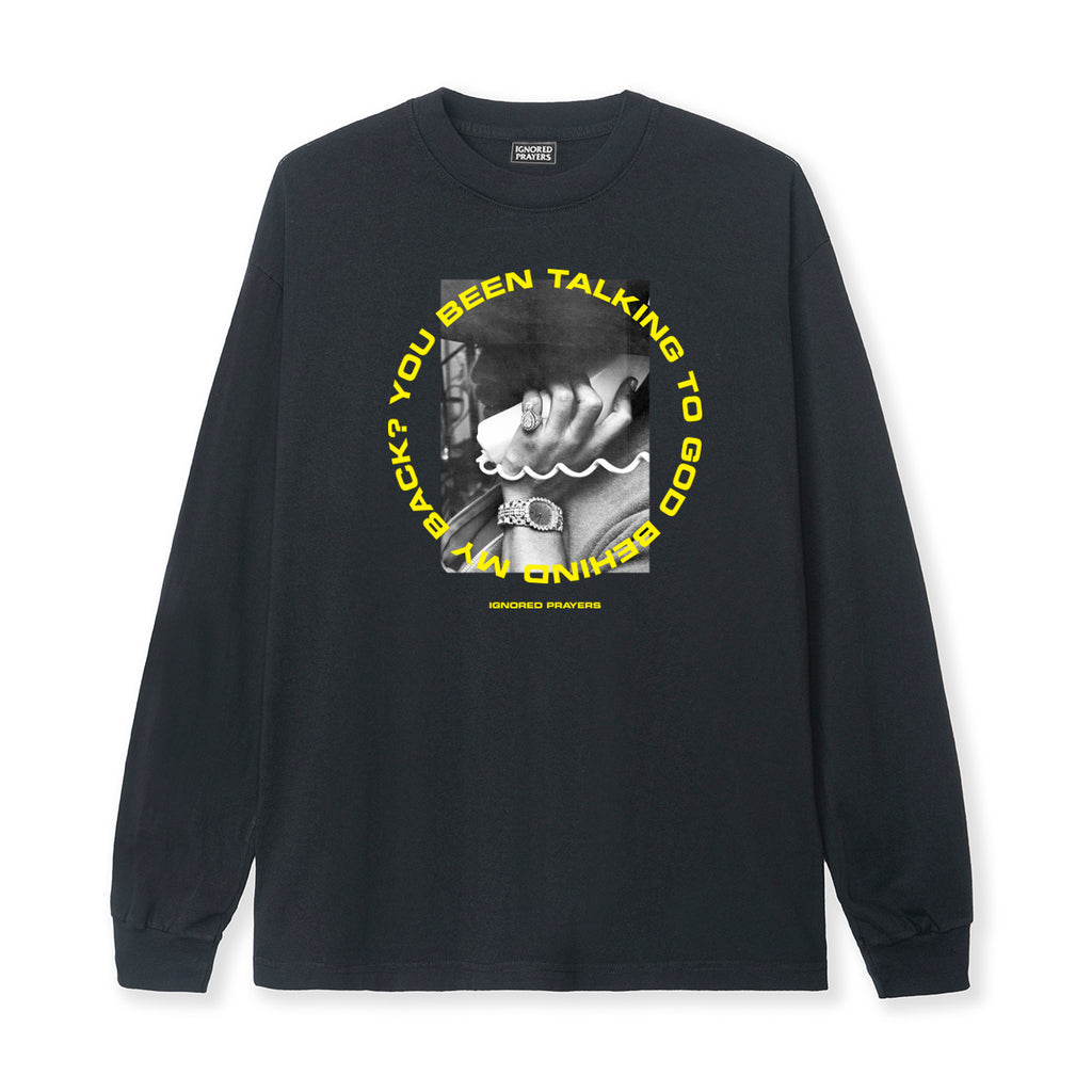 TALKING 2 GOD L/S  TEE - BLACK