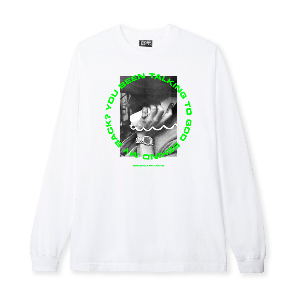 TALKING 2 GOD L/S  TEE - WHITE