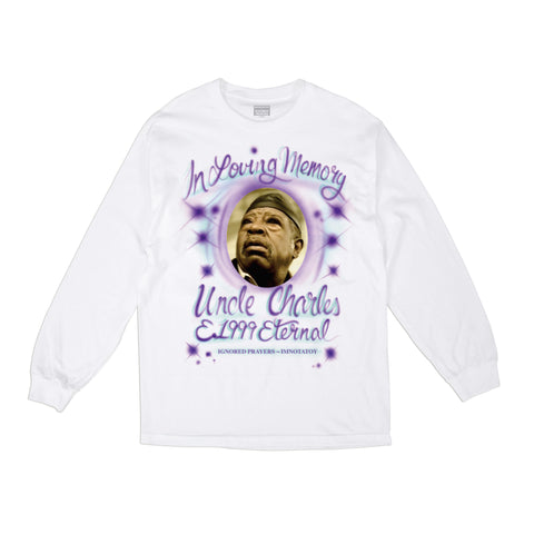 UNCLE CHARLES L/S T-SHIRT - WHITE