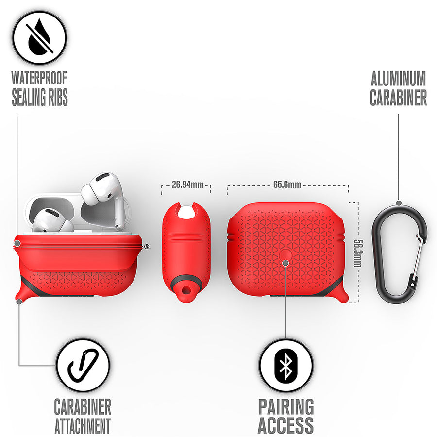 CATAPDPROTEXRED | Premium Waterproof Case for AirPods Pro