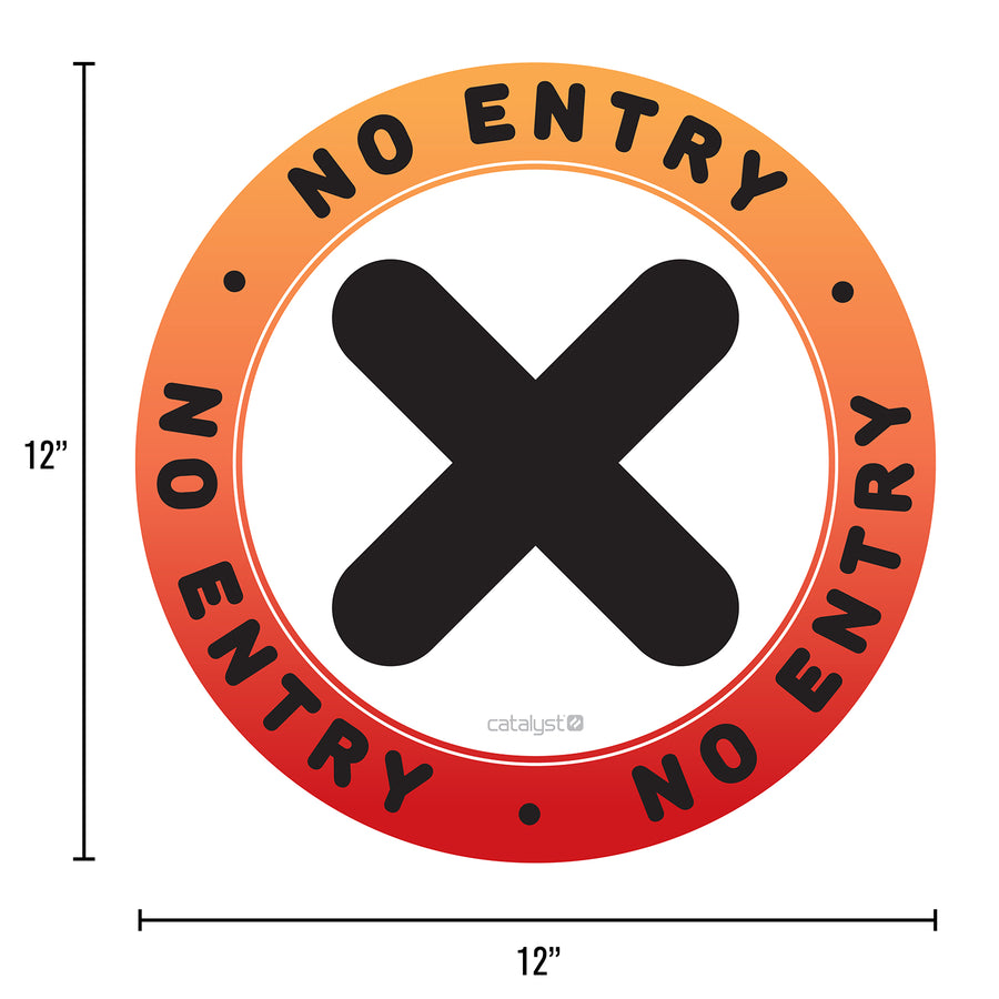Floor Decals - No Entry