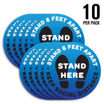 Floor Decals - Stand Here