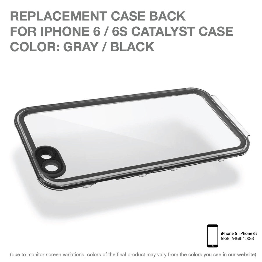 CATBACBLK6 | Replacement Case Back for Catalyst Case for iPhone 6/6s
