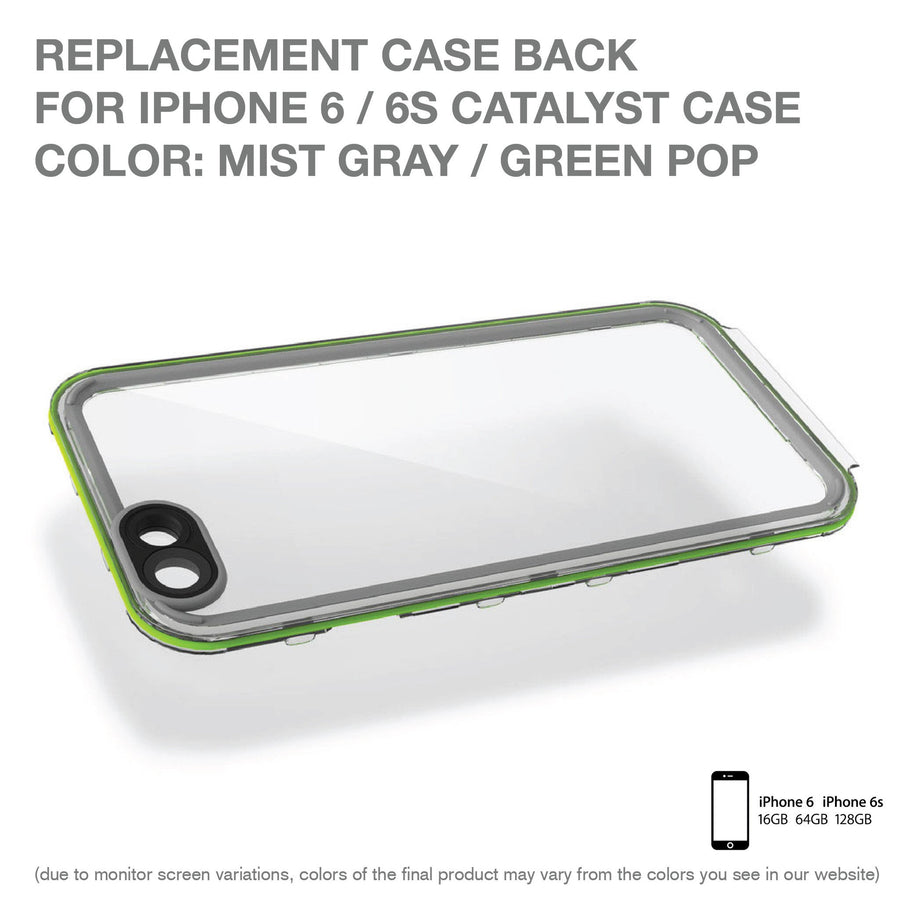 CATBACGRE6 | Replacement Case Back for Catalyst Case for iPhone 6/6s