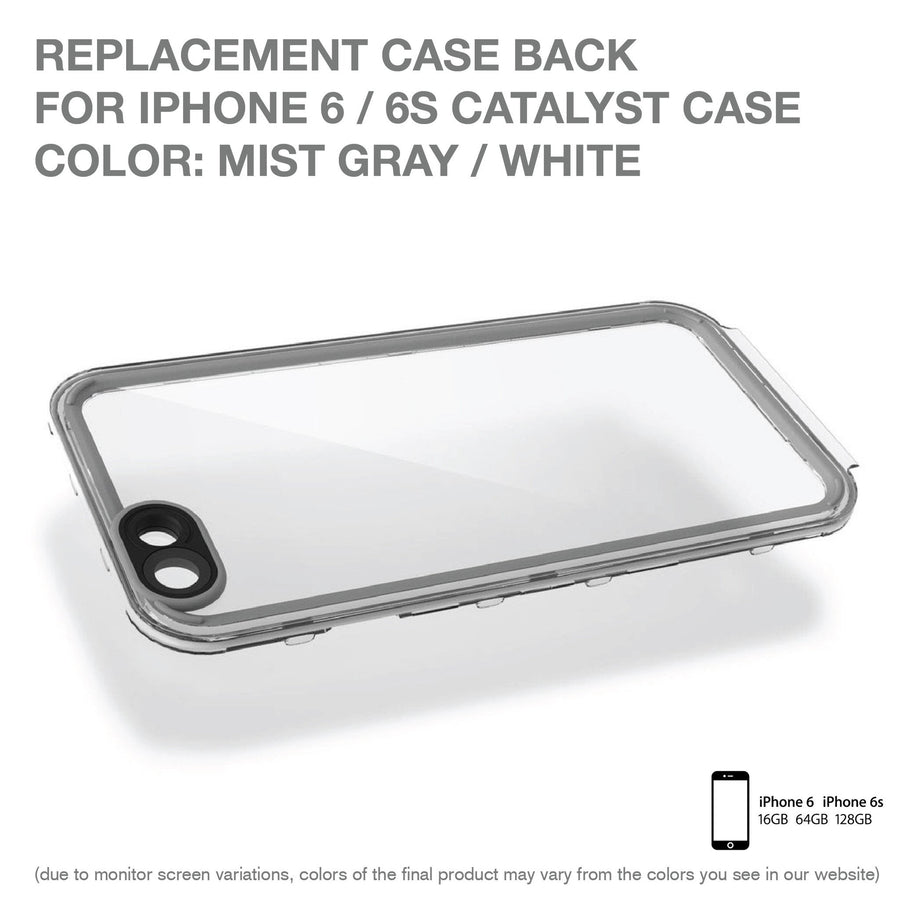 CATBACWHT6 | Replacement Case Back for Catalyst Case for iPhone 6/6s