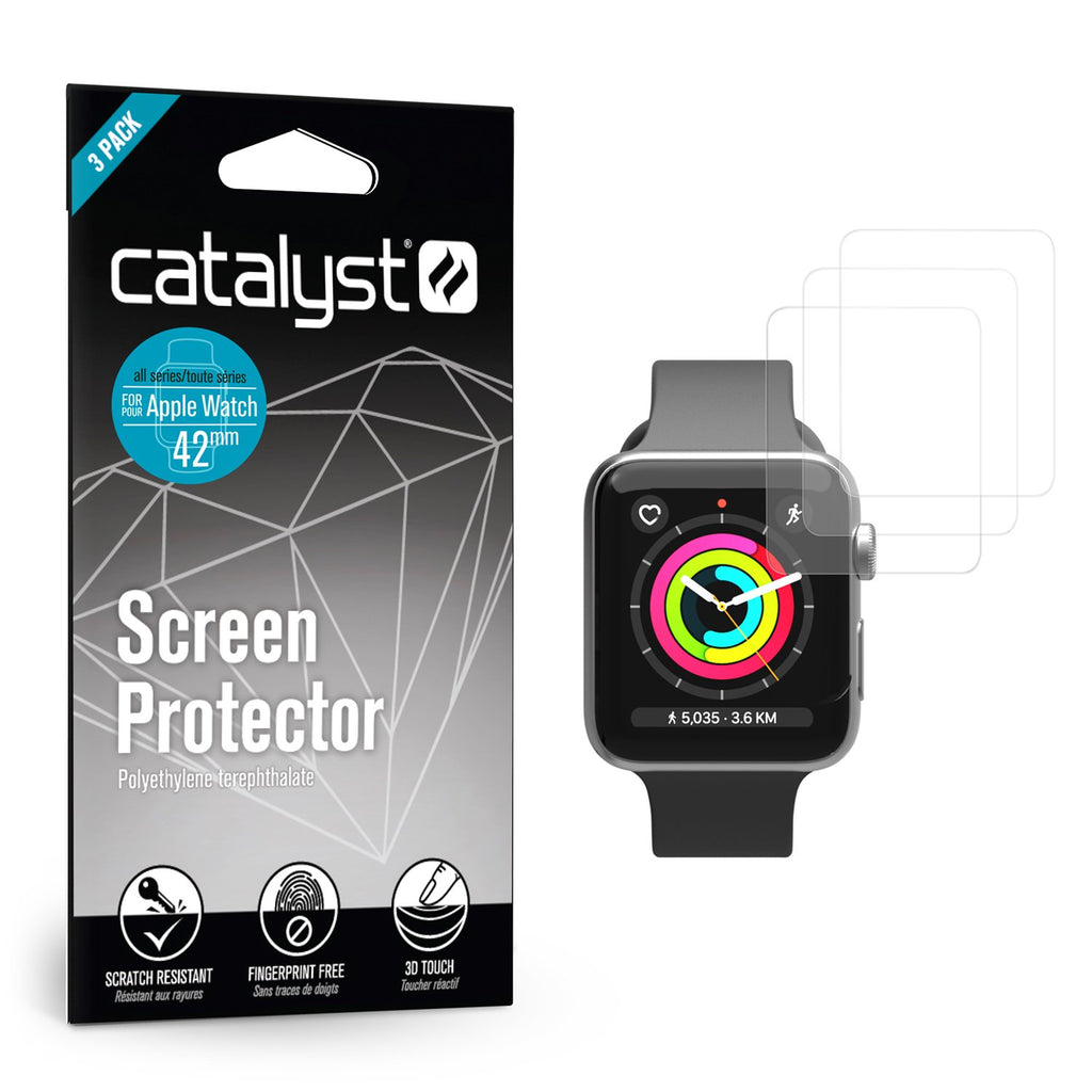 46d6cddaa70432 Screen Protector for 42mm Apple Watch - 3 Pack – Catalyst Case US