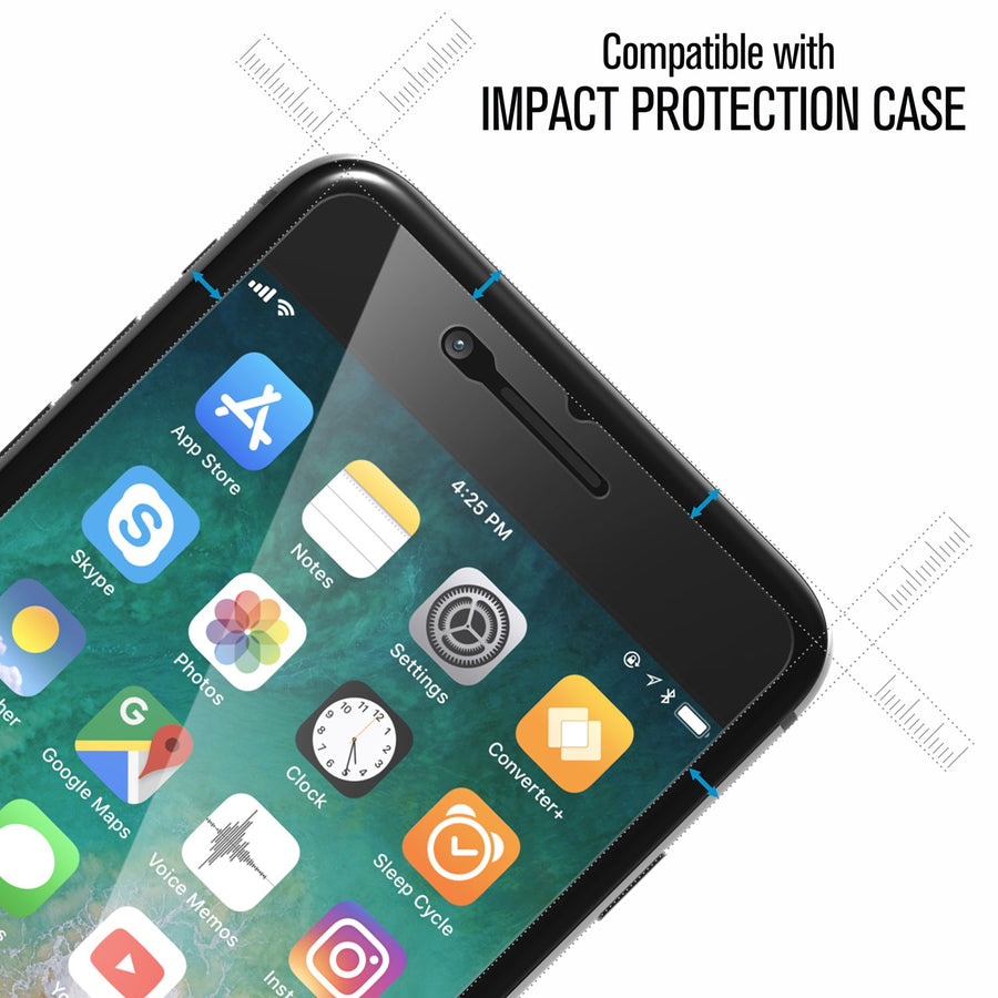 Tempered Glass Screen Protector for iPhone 8 Plus