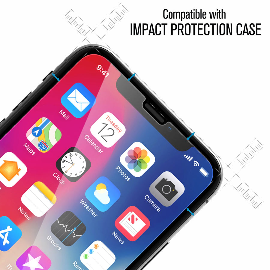 CATGLASIPHOX | Tempered Glass Screen Protector for iPhone X/Xs/11 Pro