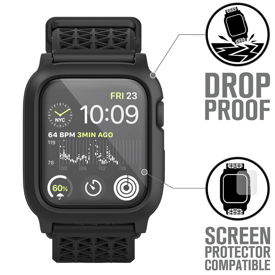 CAT44DROP5BLK | Impact Protection Case for Apple Watch Series 5 & 4 - 44mm