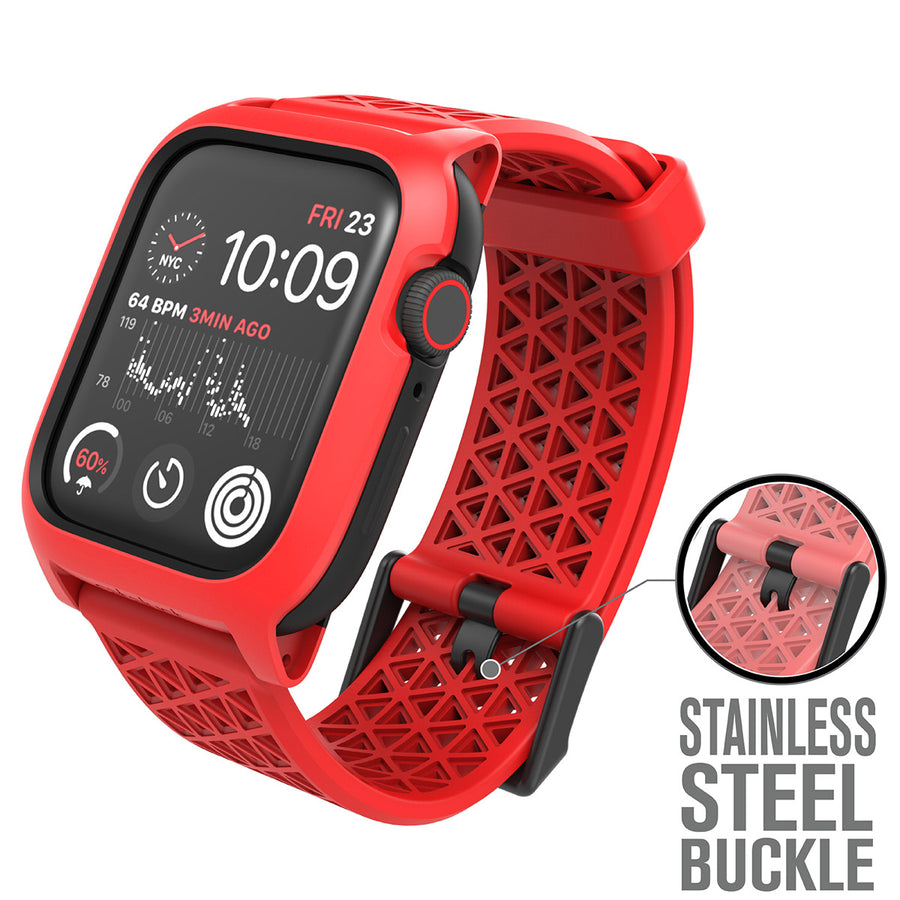 CAT44DROP5RED | Impact Protection Case for Apple Watch Series 5 & 4 - 44mm