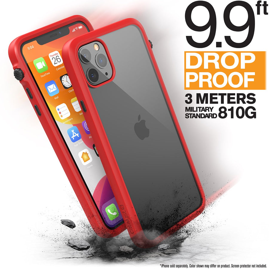 CATDRPH11REDL | Impact Protection Case for iPhone 11 Pro Max | Red