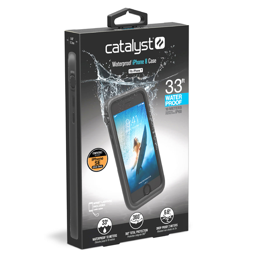 CATIPHO8BLK | Waterproof Case for iPhone SE (2nd Gen), 8 & 7