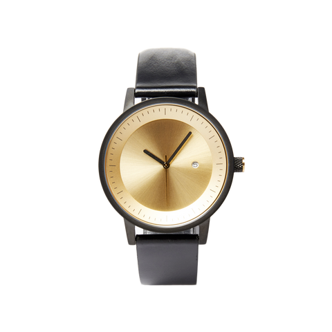 Dixon Watch - Black / Gold - 42mm
