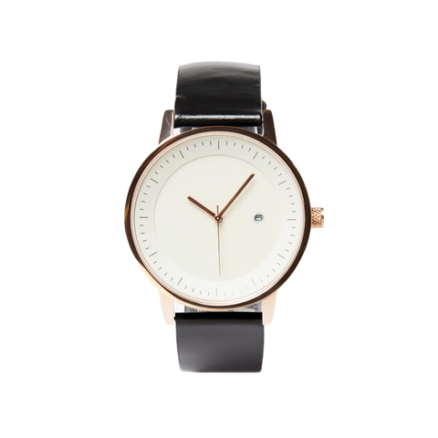 Earl Watch - Black / Rose Gold / White - 42mm