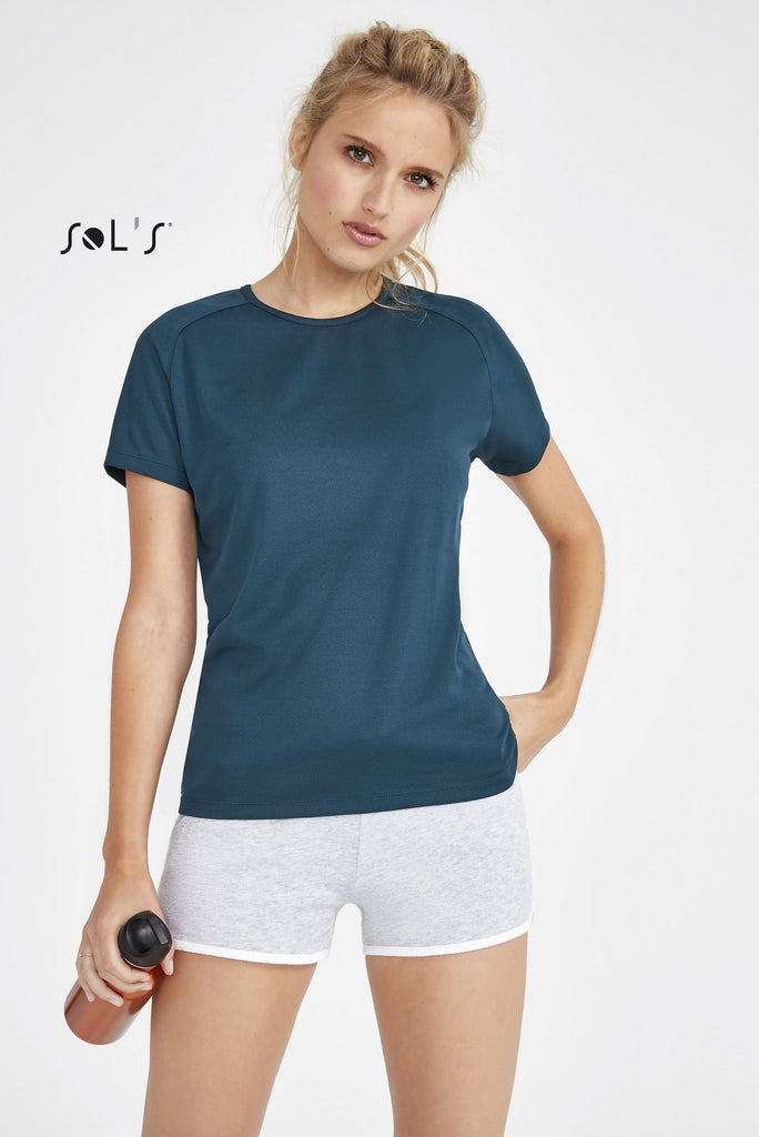 Sporty Women's Raglan Sleeve T-Shirt S01159