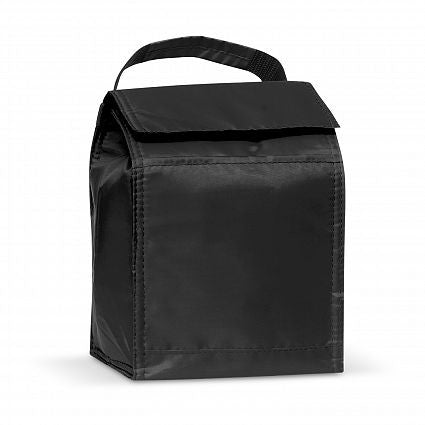 Black Solo Lunch Cooler Bag With Logo