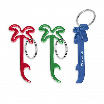 Palm Tree Bottle Opener Key Ring 109643