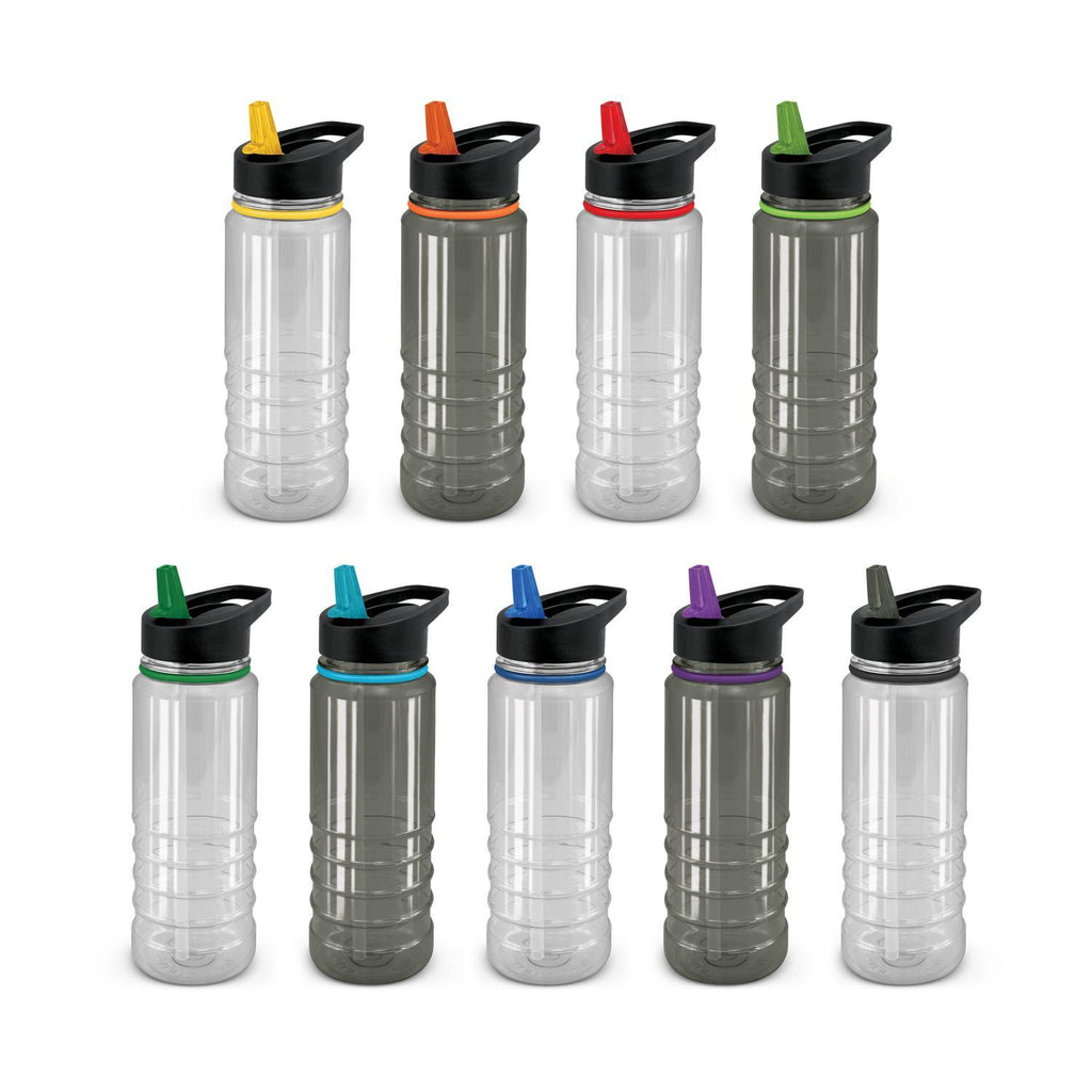 Triton Elite Drink Bottle - Clear and Black With Logo