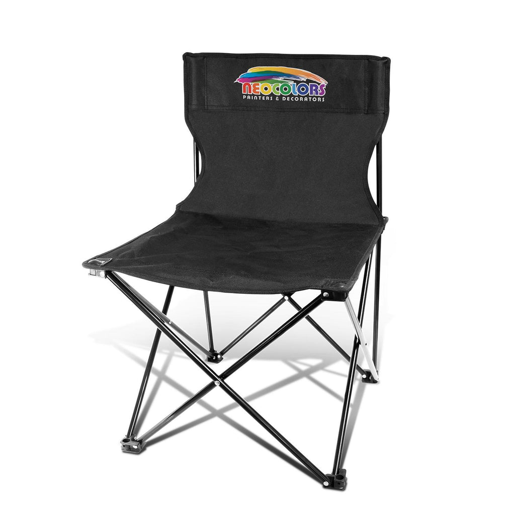 Black Calgary Printed Folding Chair