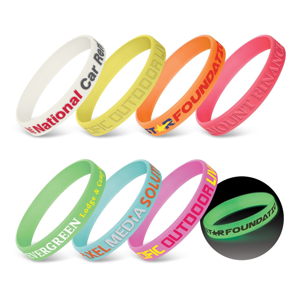 Silicone Wrist Band - Glow in the Dark 112807