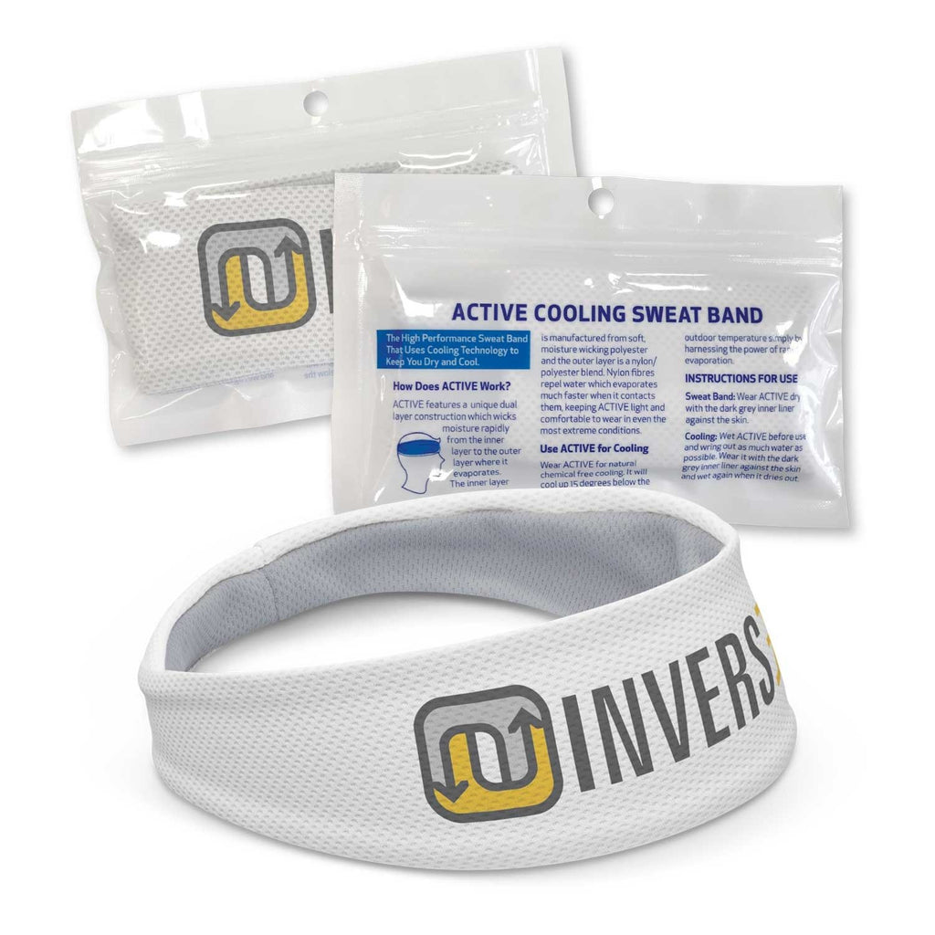 Active Cooling Sweat Band With Logo