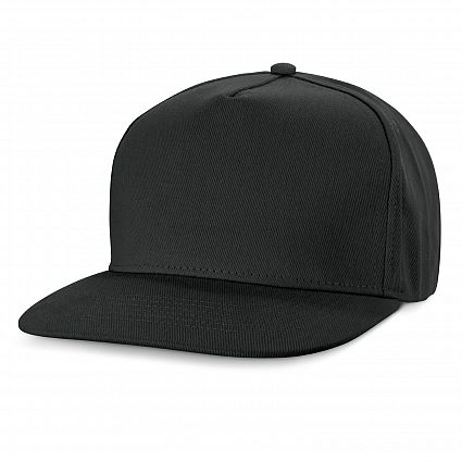 Black Promo Chrysler Flat Peak Cap