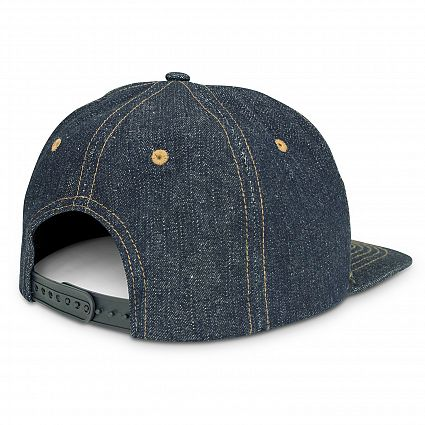 Denim Flat Peak Cap Bulk