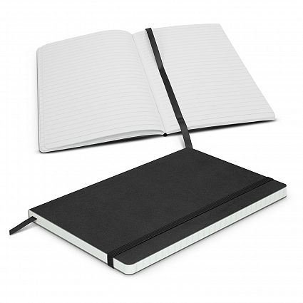 Black Hudson Notebook With Logo