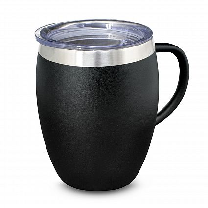 Balck Verona Vacuum Printed Cup with Handle