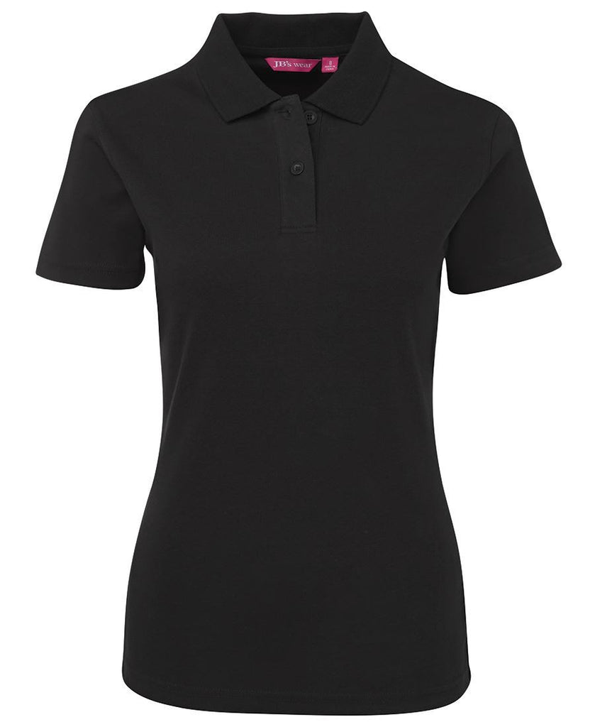 Black Personalised Ladies Interlock Polo