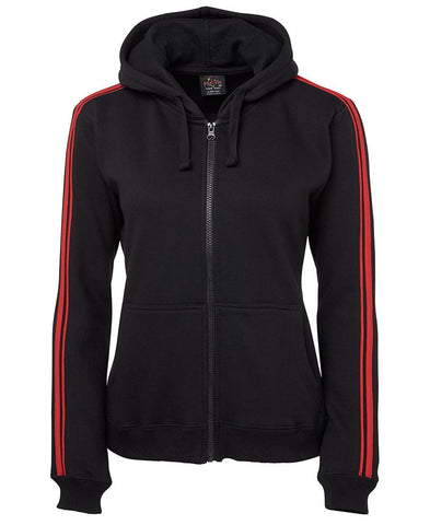 Pdm Ladies P/C Dual Stripe F/Z 3DSH1